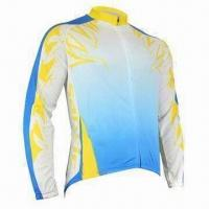 China Bicycle jersey with full zipper beautiful screen print wholesale