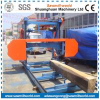 Buy cheap Horizontal Band Saw Mill Electric/Diesel Engine Powered Wood Cutting Bandsaw Mill Portable product