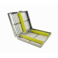 China Dental Sterilization Cassette Rack Tray Box for 10 Dental Surgical Instruments wholesale