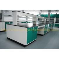 China Glare surface school chemical lab Island bench solid anti high temperature wholesale