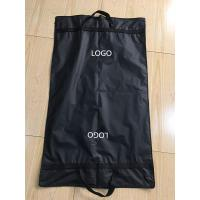 Buy cheap Clips Suit Garment Bag Travel Black Peva Printed Webbing Handles 100*60 cm Size from wholesalers