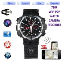 Buy cheap Y31 16GB 720P WIFI IP Spy Watch Hidden Camera Recorder IR Night Vision Home Security Wireless Remote Video Monitoring from wholesalers