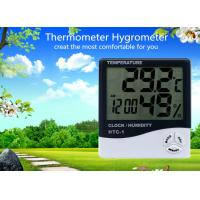 China Household Digital Temperature & Humidity Thermometer Digital Lcd Display with Clock wholesale
