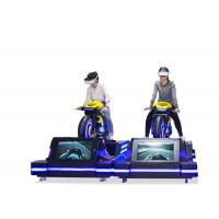 China Motorbike VR Driving Simulator Fiber Glass 360 Degree Rotation For Theme Park wholesale