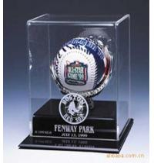 SGS Baseball Acrylic Display Stand Case / Sport Acrylic Advertising Display