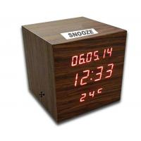 China Digital LED Wooden Clock with Calendar, Radio, Bluetooth and Loudspeaker wholesale
