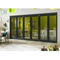China Commercial Aluminium Alloy Bifold Doors 28dB Accordion Durable wholesale
