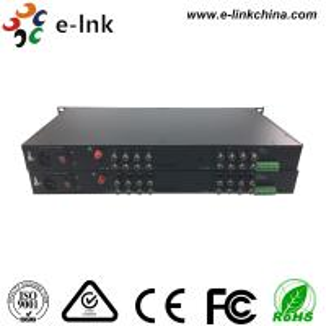China E-link 16-Ch HD-AHD/HD-CVI/HD-TVI/CVBS 4-in-1 Video Fiber Converter with 2 years Warranty wholesale
