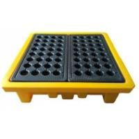 China Leak Proof 4 Drum Spill Containment Pallet Spill Platform For Drum Storage wholesale