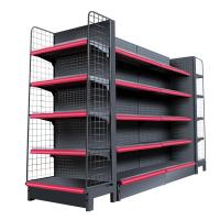 China Double Side Supermarket Display Shelving Cold Rolled Steel Material White Color wholesale