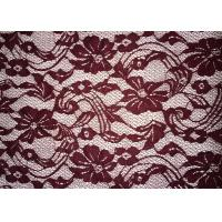 China Beauty Chemical Lace Fabric / Cupion Lace Fabric With Polyester / Cotton Material wholesale