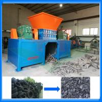 China Waste tire shredder machine plant prices for tire recycling wholesale