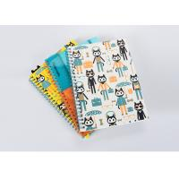 Matte Finishing Soft Cover Notebook / Journal With Spiral Binding And Cartoon