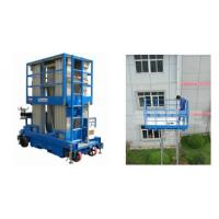 China Push Around Man Lift With 12m Working Height , Four Mast Hydraulic Elevating Platform wholesale