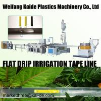 China 180m/mim Inline Flat Drip Irrigation Tape Extrusion Line KAIDE factory wholesale