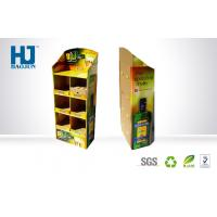 China Advertising Supermarket Floor Display With Full Color Printing Corrugated Display Stand wholesale
