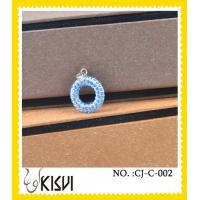 China Round CZ crystal & 925 silver blue handcrafted crystal jewelry with factory price wholesale