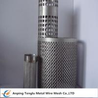 China Wire Mesh Filter Tube|Flat Kintting Weave with Round Hole Shape wholesale