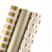 China Moisture Proof Recyclable Wrapping Paper Smooth Metallic Foil Shine For Clothing / Shoes wholesale