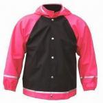China Children's rain jacket/coat, made of PU fabric, waterproof 3000 wholesale