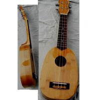 China Vintage Special Whole Bamboo Wood Hawaii Guitar Ukulele Elliptical shaped AGUL17 wholesale