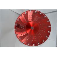 China Red Vacuum Brazed Diamond Blades Concrete Cutting Blades With Flange wholesale