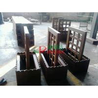 China Prefab WPC Composite Garden Planters 759 X 438 X 950mm With Wood Garden Trellis wholesale