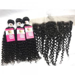 China Black Curly Hair Weave Bundle Unprocessed Virgin Peruvian Human Hair Extensions wholesale