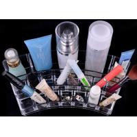 China Unique Clear Cosmetics Display Rack , Exquisite Acrylic Makeup Organizer wholesale