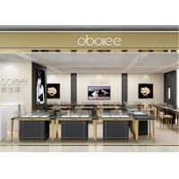 China S/S + MDF + Glass + Lights Gold Jewellery Showroom Interior 3D Design wholesale
