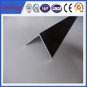 China 6063 T5 aluminum angle profile / OEM aluminum angles / per ton of aluminum manufacturer wholesale