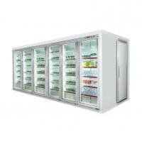 China Refrigerated glass door display chiller walk in refrigerator cold room wholesale