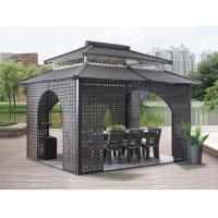 Quality China garden house outdoor pavilion with sofa garden rattan tents 1114 for sale