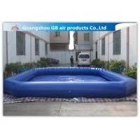 China Commercial Giant Swimming Pool Inflatables , Dark Blue Large Inflatable Pool Toys 8 * 6m wholesale