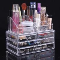 China Multifunction Plastic Makeup Display Stand Jewelry Display Cases With Three Drawer wholesale