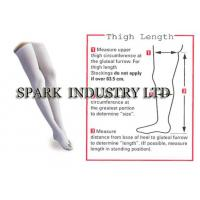 China Anti Embolism Thigh High Medical Compression Stockings With Closed Toe wholesale