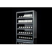 China 5 Layers Built-in Lighting Cigarette Display Cabinet With Gliding Pusher wholesale