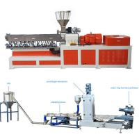 China High Capacity Plastic Dual Screw Extruder With Water Ring Pelletizing System wholesale
