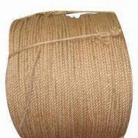 China No Knot Sisal/Jute Twine/Jump/Cord Trim/Wire Rope, Made of 100% Jute, 3 to 30m wholesale