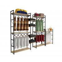 China Modern Style Clothing Shop Display Racks Wall Mounted Clothing Rack For Shopping Mall wholesale