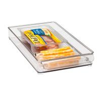 China Rectangle Clear Acrylic Tray , 300 * 100 * 40mm OEM Logo wholesale