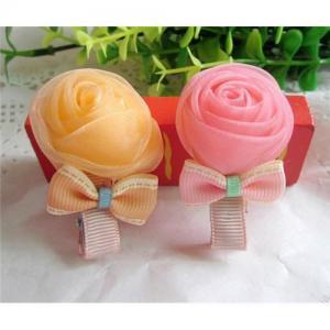 hot sell children flower hair clips,popular flower hair accessories jewelry
