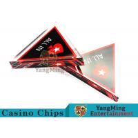China Unique Style Casino Game Accessories , Triangular Shape Poker Playing Cards  wholesale
