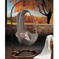 China Rattan hanging egg chair/outdoor hanging swing wholesale
