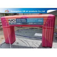 China Customized Pink Square Inflatable Door Archway Make 0.6mm PVC Tarpaulin Airtight wholesale