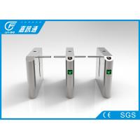 China Full Automatic Drop Arm Turnstile Bi - Direction 50 - 60 Persons/Min Remote Control wholesale