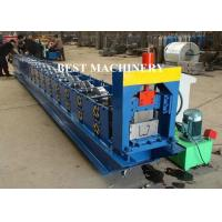 China 6 Inch Roofing Rain Gutter Roll Forming Machine PLC Control Cutting wholesale