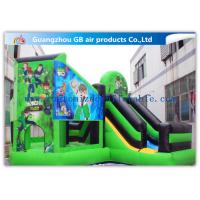 China Green Ben 10 Theme Bouncy Castle Slide , Inflatable Jumping Castle For Kids wholesale