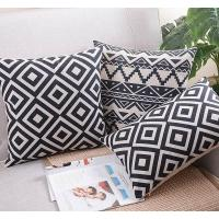 China Classic black and white cushion,vector graphic polka dot cross chevron print cushion wholesale