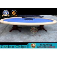 China Luxury Texas Holdem 110 Inch Dye Sublimation 10 Seat Poker Table With Dealer Position wholesale